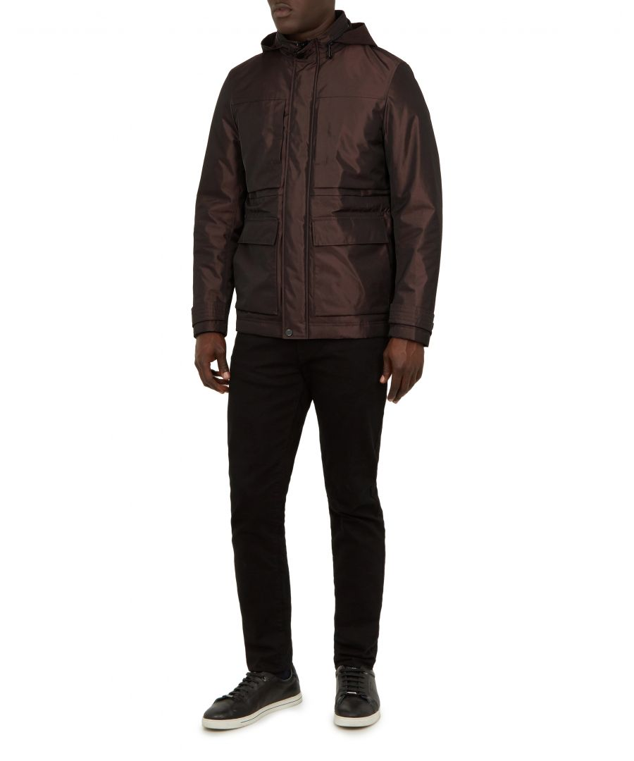 Image for Oka Nylon Field Jacket in Maroon