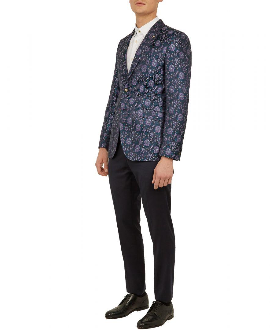 Image for Blushez Pashion Floral Jacquard Jacket in Purple