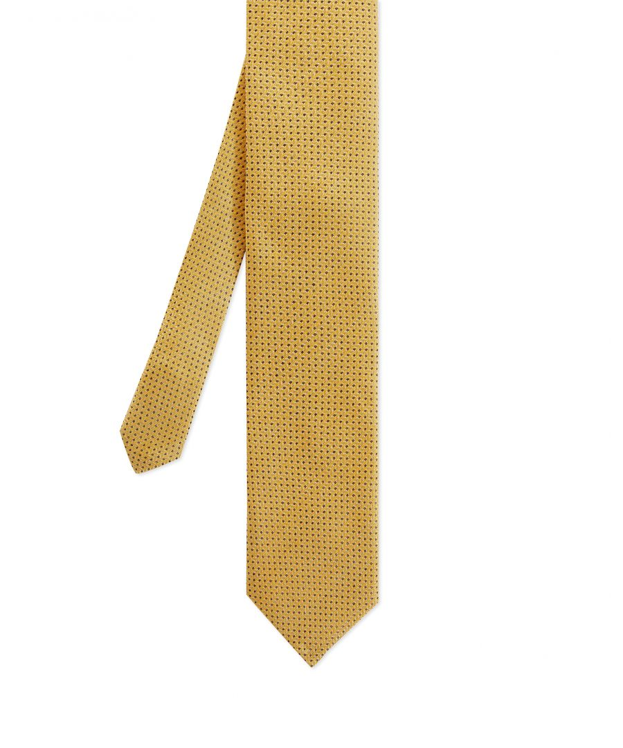 Image for Brune Woven Semi Plain 7Cm Tie in Yellow