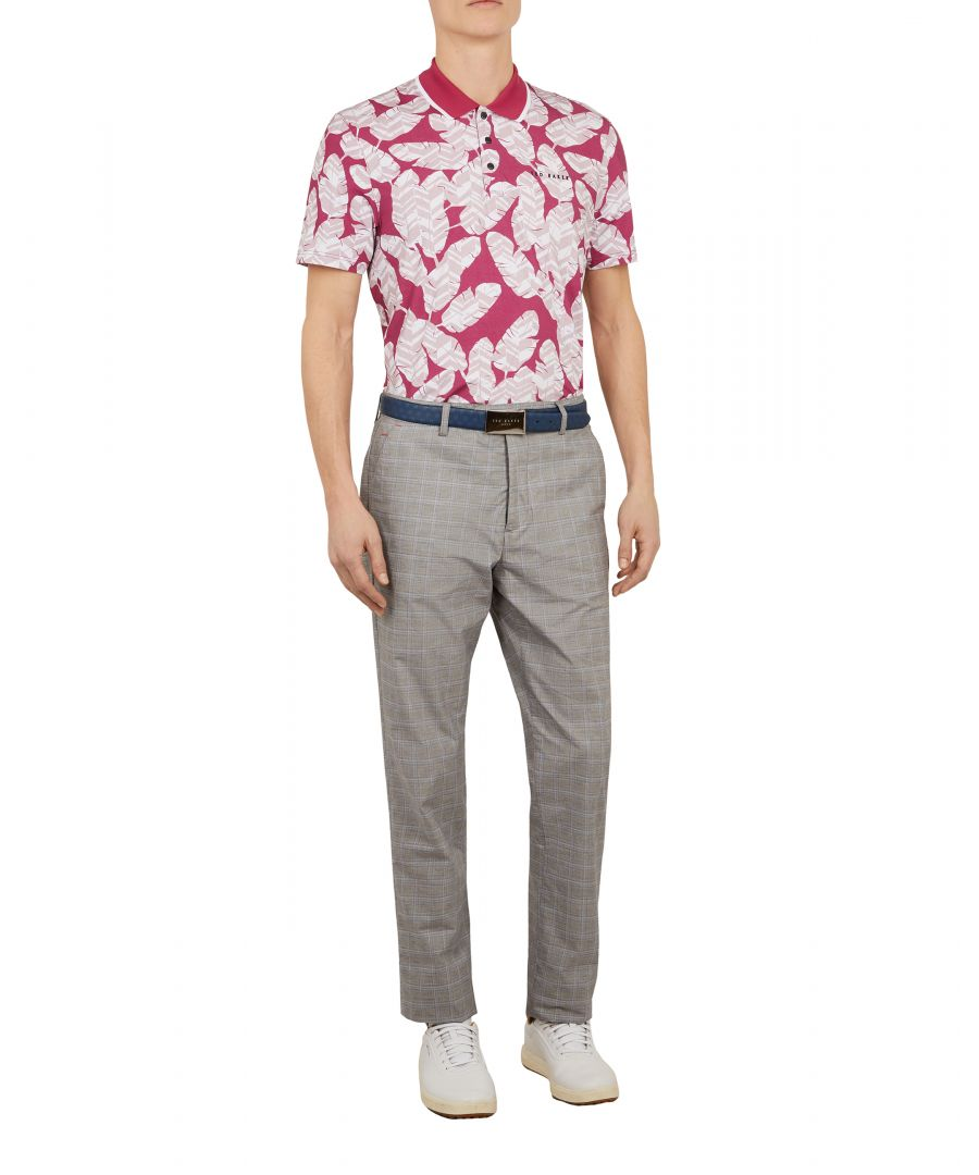 Image for Peacan Shortsleeve Golf Large Geo Print Polo in Pink