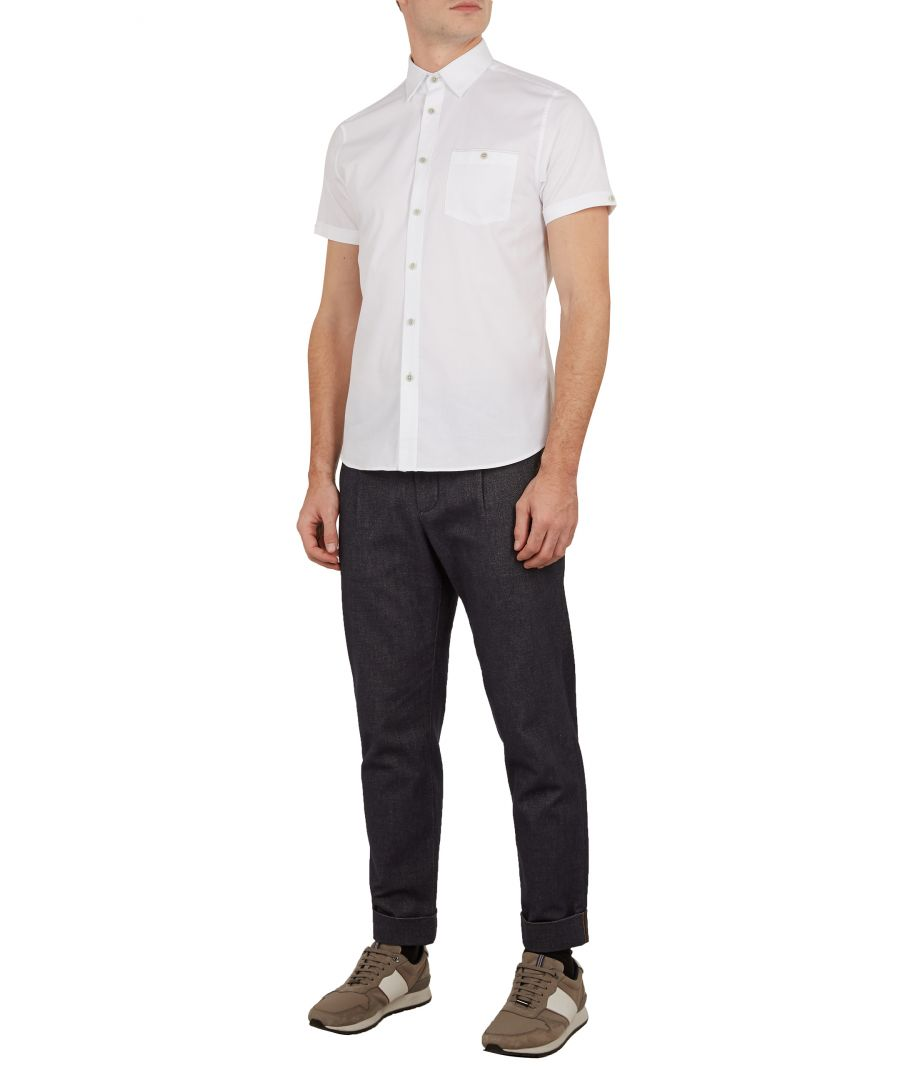 Image for Wallabi Shortsleeve Oxford Shirt in White