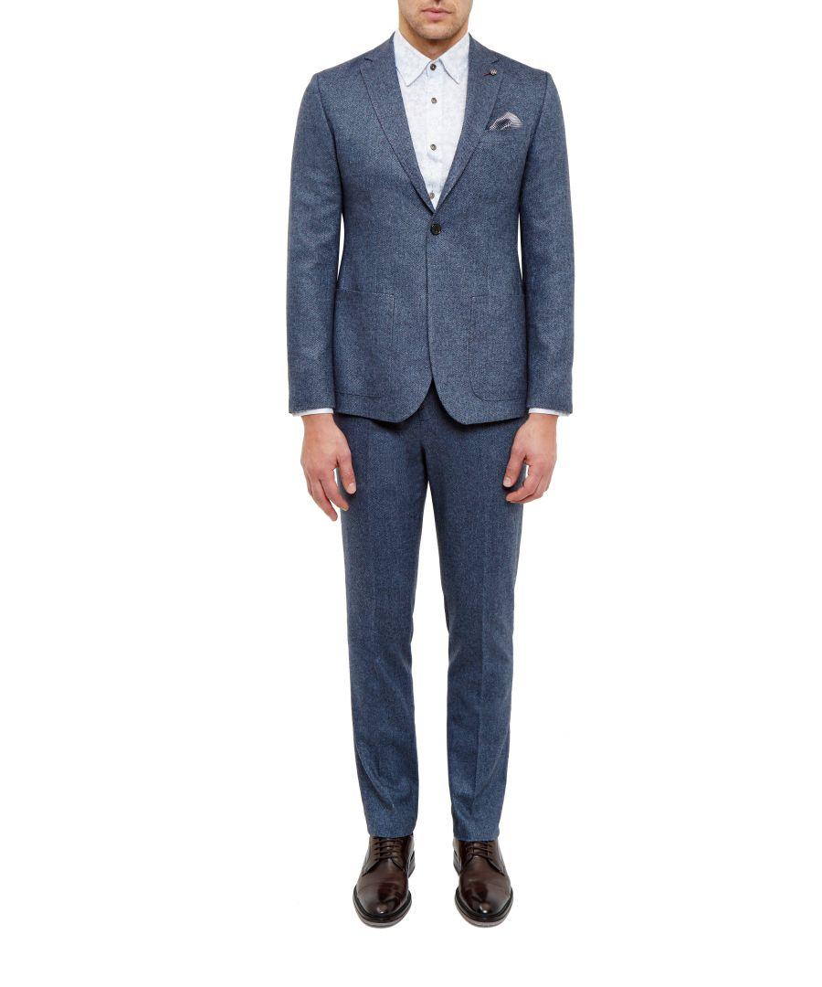 Image for Ted Baker Cram Semi Plain Wool Jacket, Blue