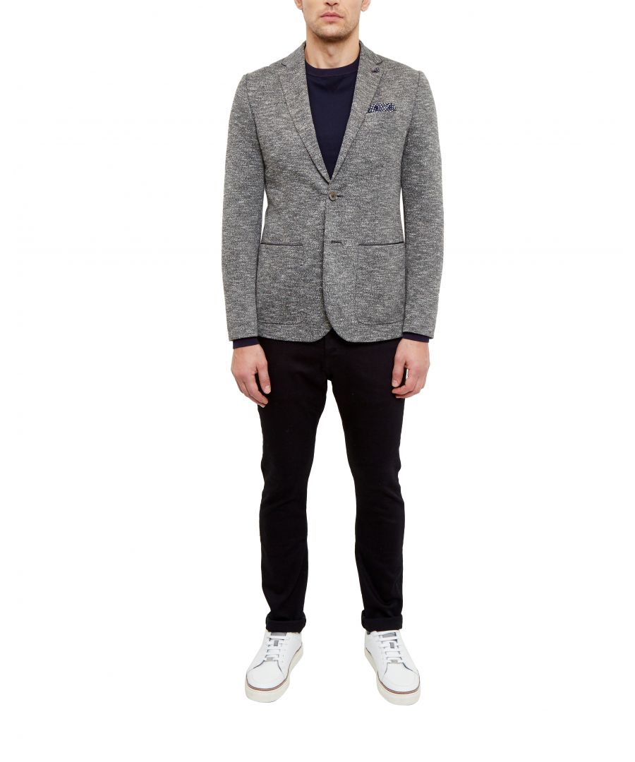 Image for Ted Baker Italy Textured Jersey Blazer, Charcoal