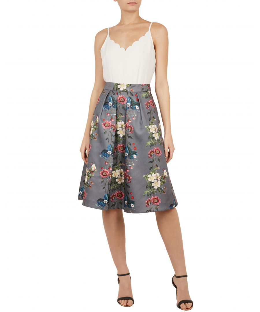 Image for Bevly Oracle Jacquard Skirt in Grey