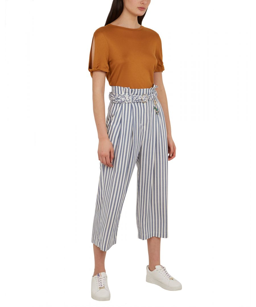 Image for Delyn Cbn Striped Wide Leg Trouser in Blue