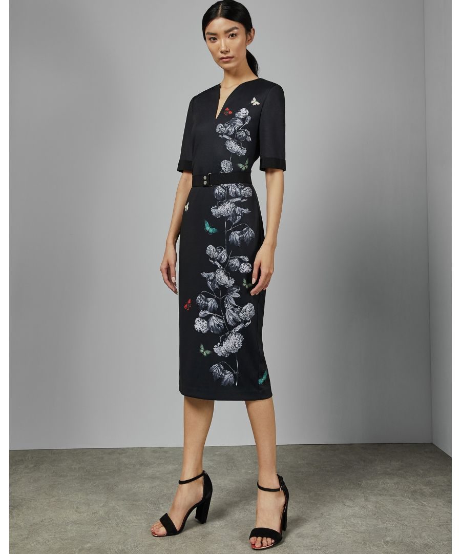 Image for Ted Baker Niliano Narrnia Bodycon Dress, Black