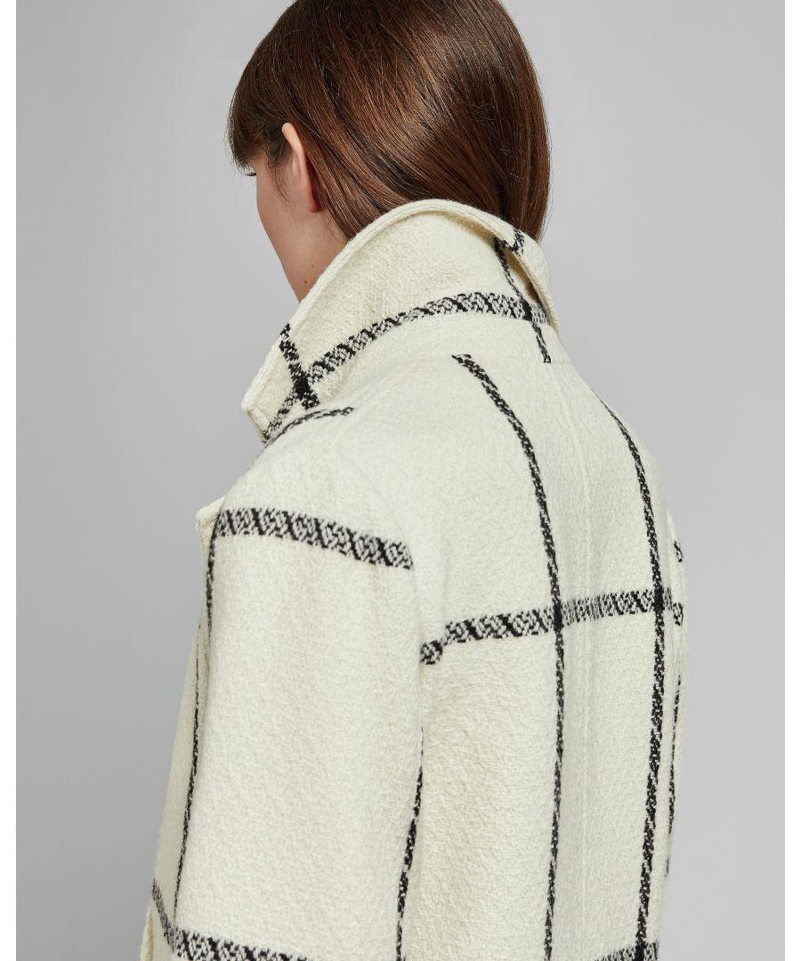 Image for Ted Baker Soniq Check Straight Coat, Ivory