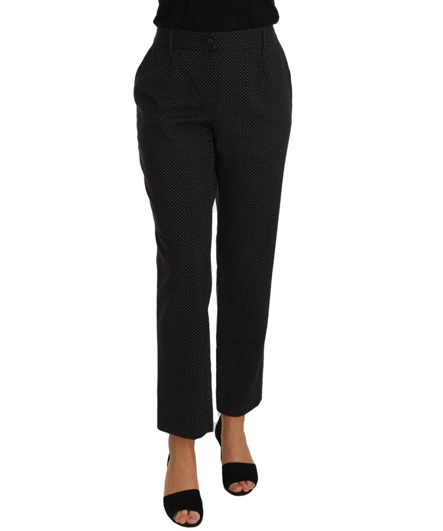 Image for Dolce & Gabbana Black Lace Up Riding Cropped Trouser Pants