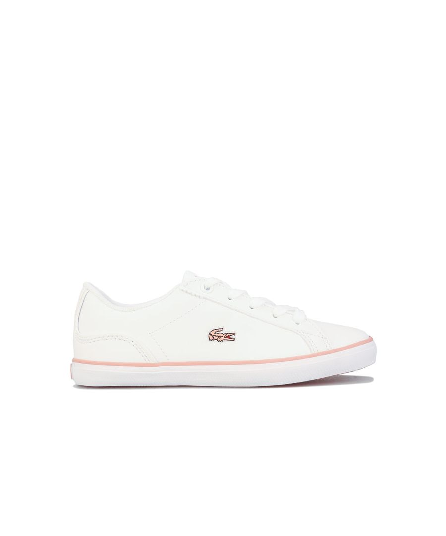 Image for Girl's Lacoste Children Lerond 319 Trainers in White pink