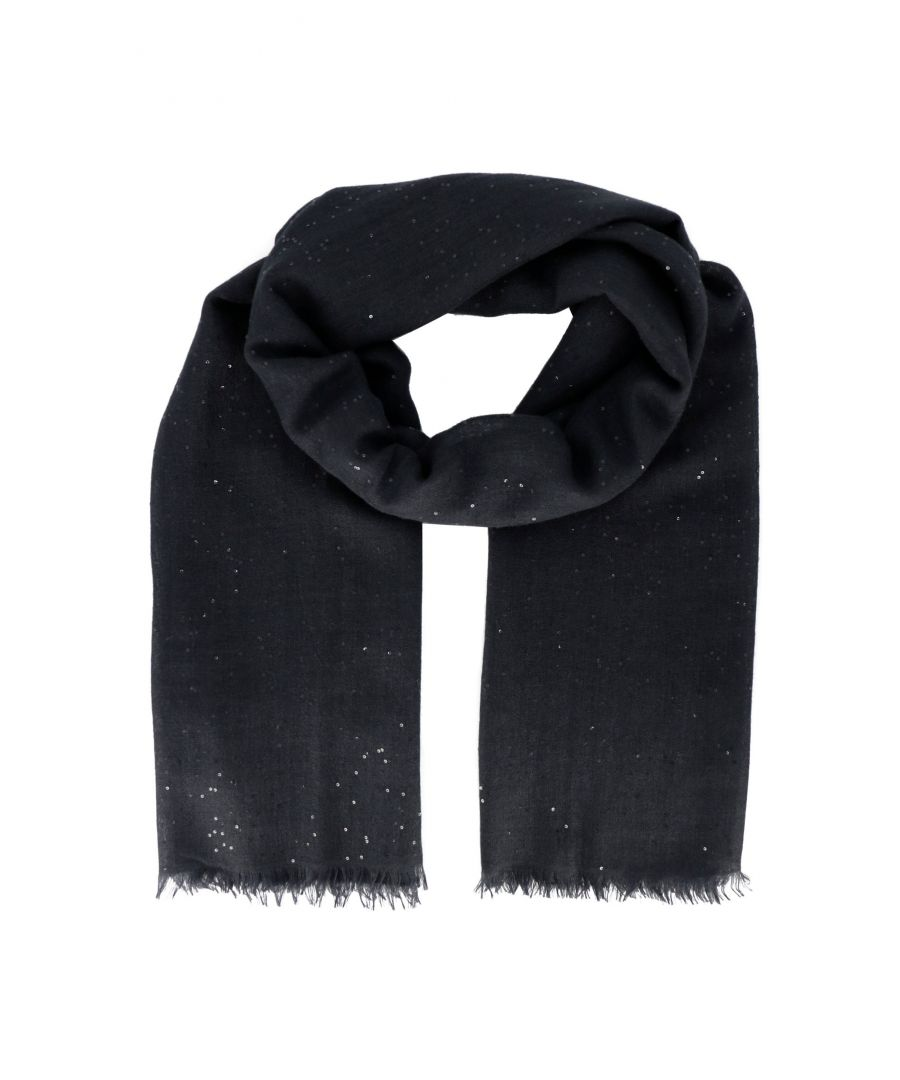Image for BRUNELLO CUCINELLI WOMEN'S MSCDVSW03C7186 BLUE CASHMERE SCARF