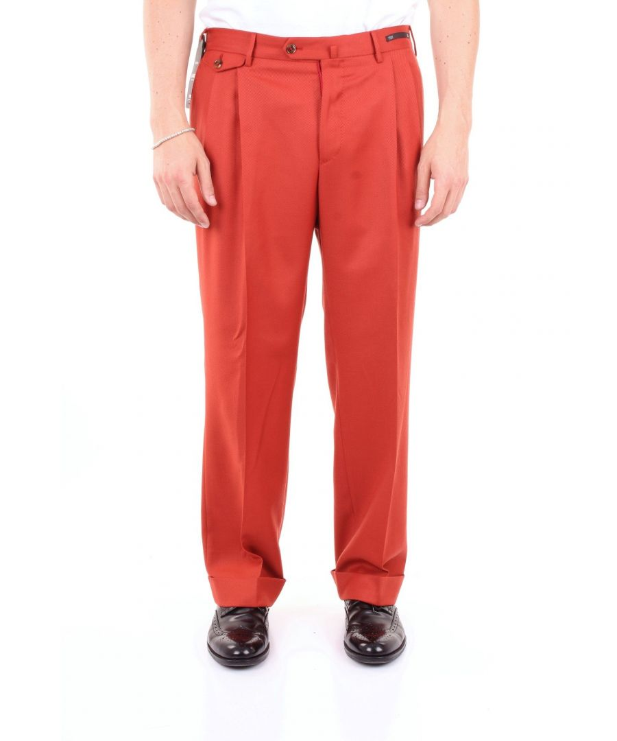 Image for PT01 MEN'S MR13GFGDZP0B0CRED RED COTTON PANTS