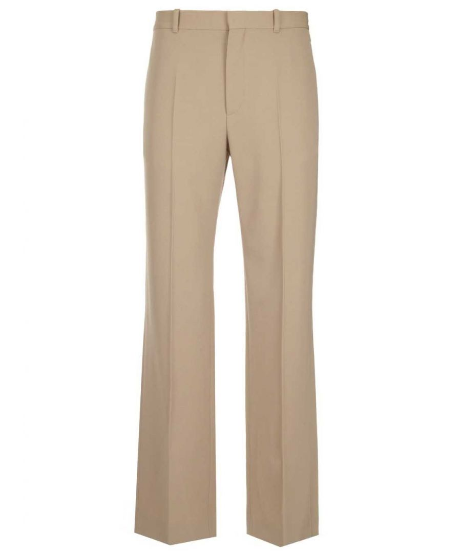 Image for BALENCIAGA MEN'S 601181TGT074278 BEIGE WOOL PANTS