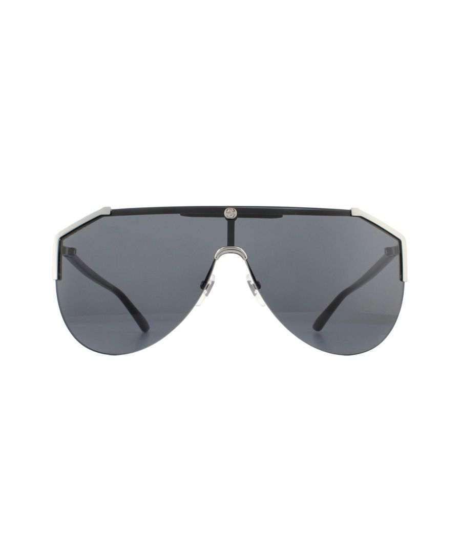 Image for Gucci Sunglasses GG0584S 001 Ruthenium and Black Grey