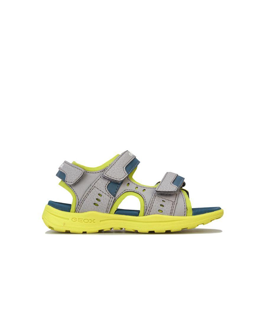 Image for Boy's Geox Junior Vaniett Sandals in Grey