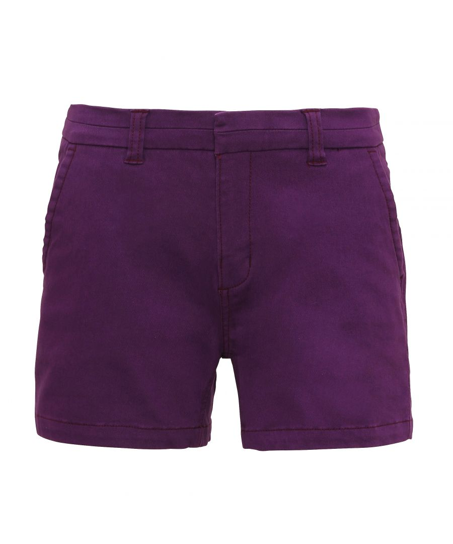 Image for Asquith & Fox Womens/Ladies Classic Fit Shorts (Purple)