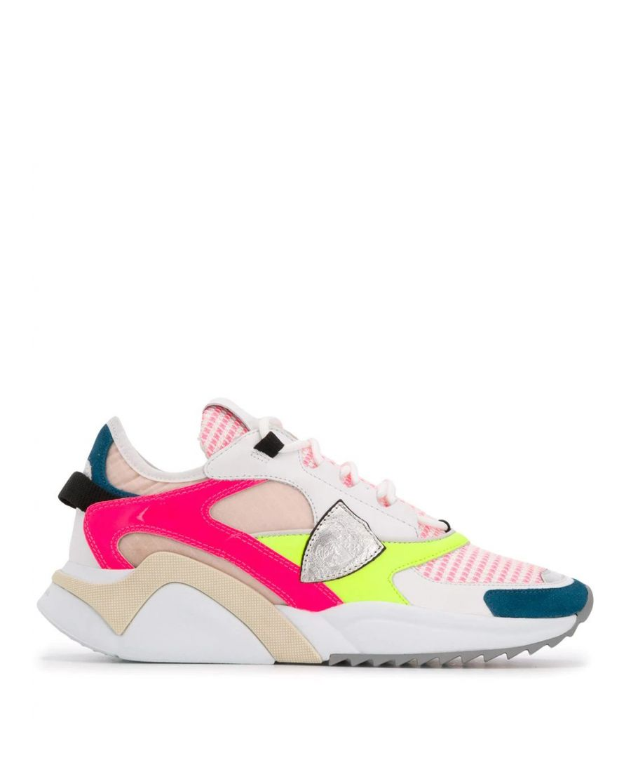 Image for PHILIPPE MODEL WOMEN'S EZLDFY05 MULTICOLOR LEATHER SNEAKERS
