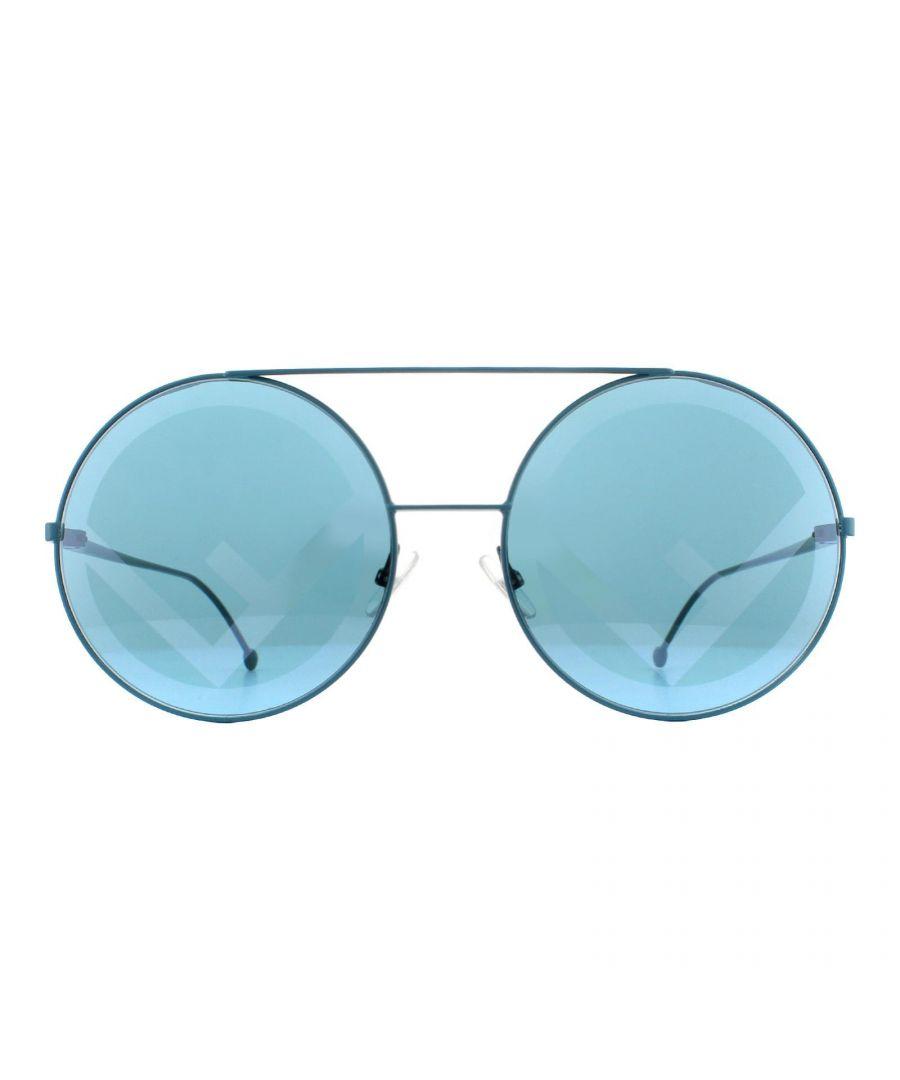 Image for Fendi Sunglasses FF 0285/S MR8 7R Petrol Blue Blue Fendi Statement
