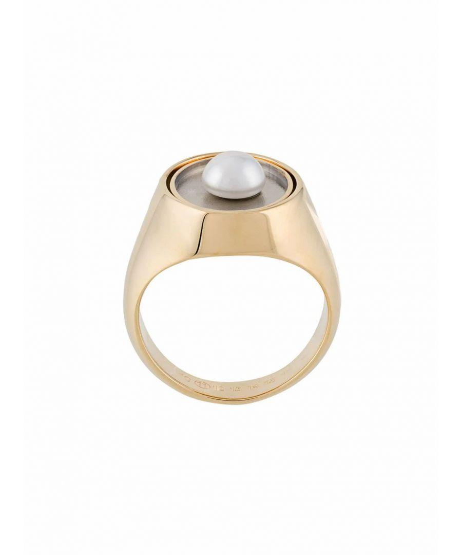 Image for MAISON MARGIELA WOMEN'S S51UQ0048S12636963 GOLD METAL RING