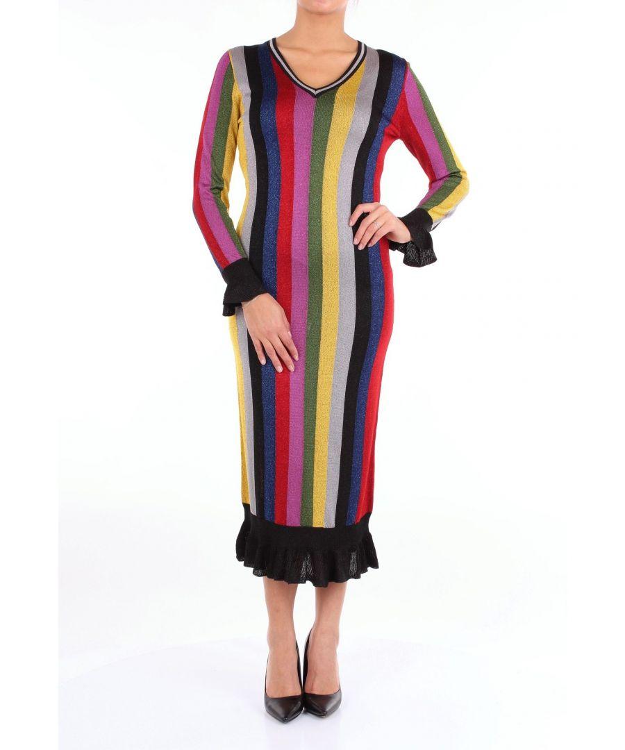 Image for MARCO DE VINCENZO WOMEN'S MZD048A5RAMULTICOLOR MULTICOLOR FABRIC DRESS