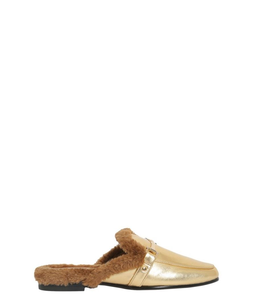 Image for SAM EDELMAN WOMEN'S F2158L1700GOLD GOLD LEATHER LOAFERS