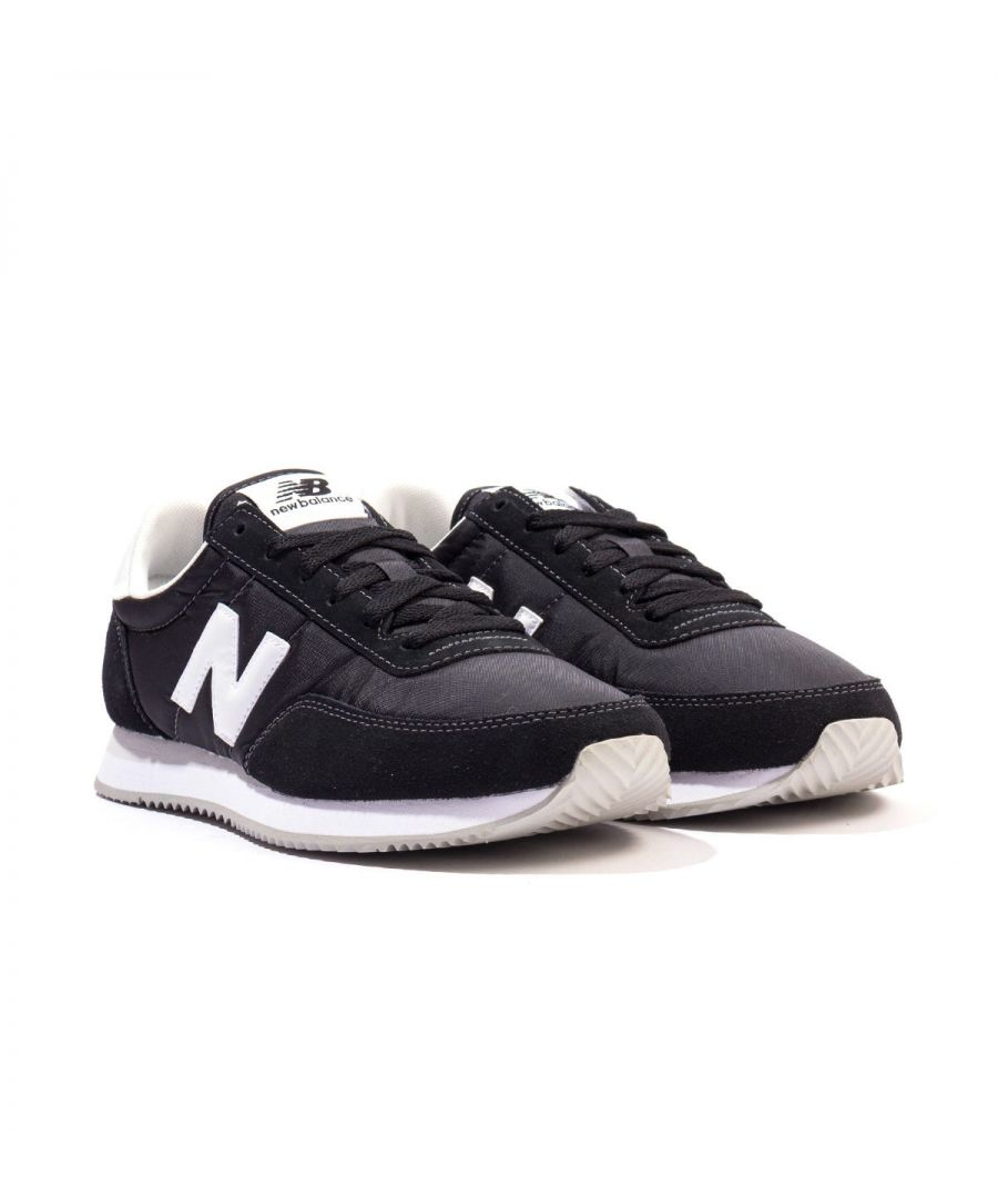 Image for New Balance 720 Suede & Mesh Trainers - Black