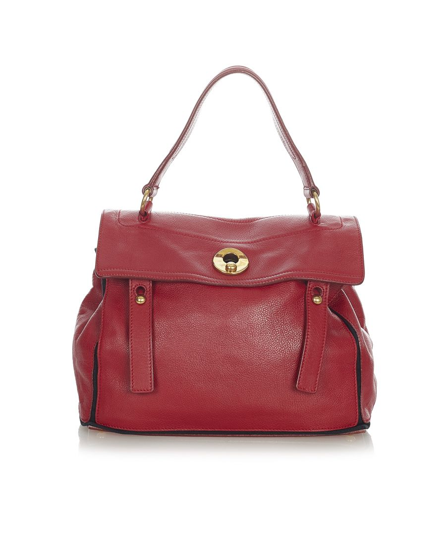 Image for Vintage YSL Muse Two Leather Handbag Red
