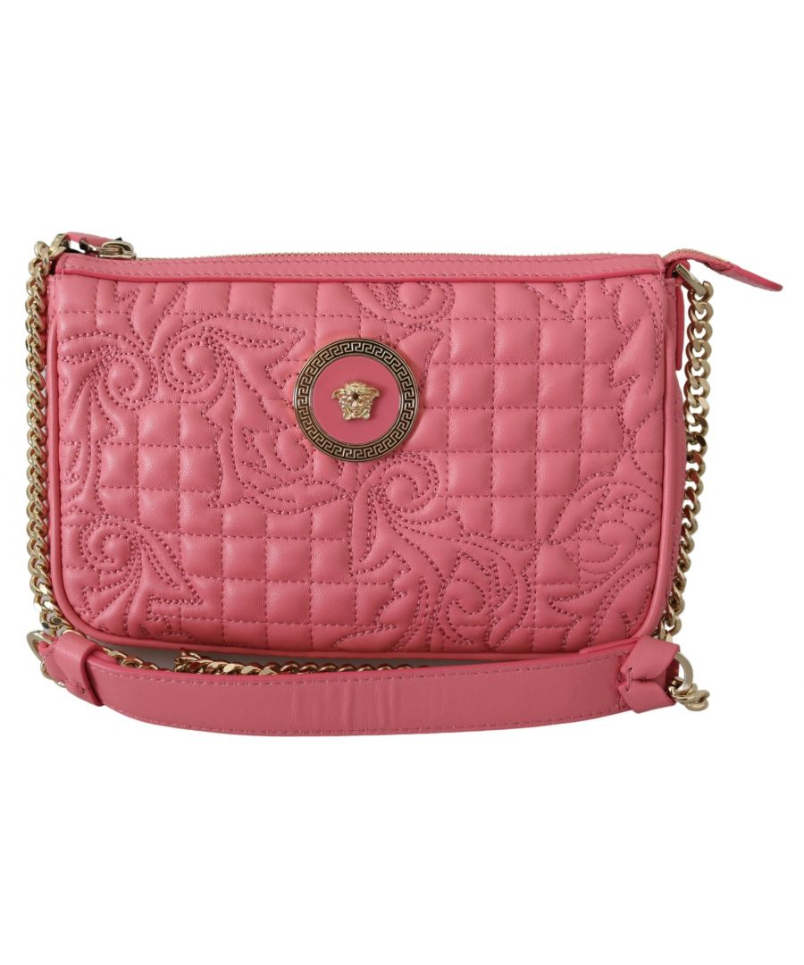 Image for Versace Quilted Nappa Leather Clutch Handbag