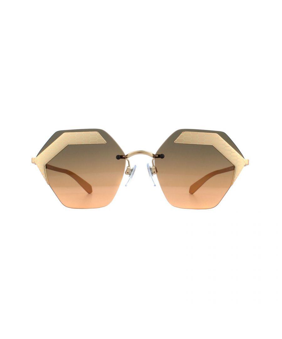 Image for Bvlgari Sunglasses BV6103 201318 Matte Rose Gold Orange Gradient Light Grey