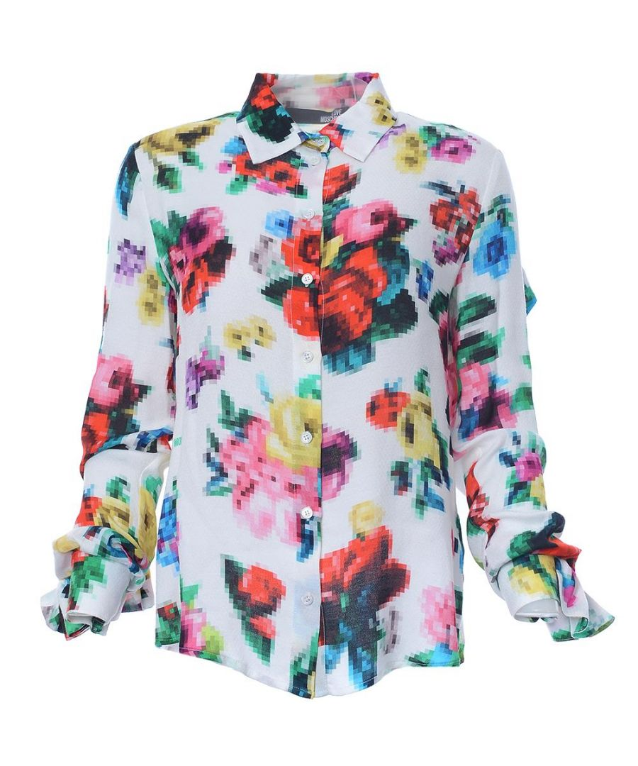 Image for Love Moschino LONG SL. SHIRT PIXEL FLOWER ALLOVER-A00+PIXEL FLOW. in Multicoloured