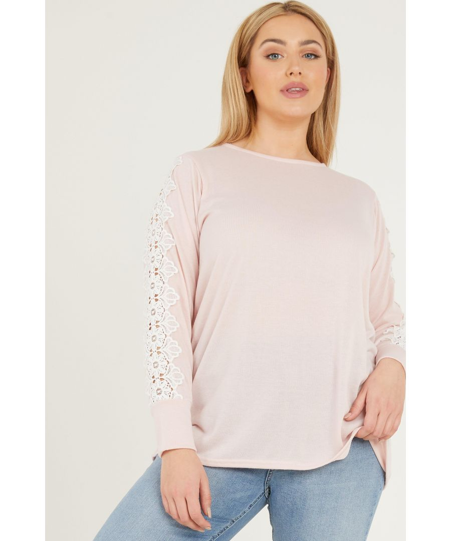 Image for Curve Pink Light Knit Jumper