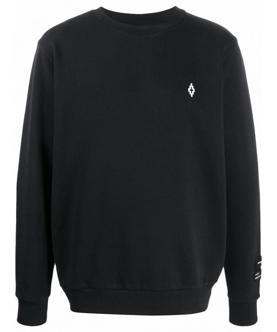 Image for MARCELO BURLON MEN'S CMBA009R20FLE0051001 BLACK COTTON SWEATSHIRT