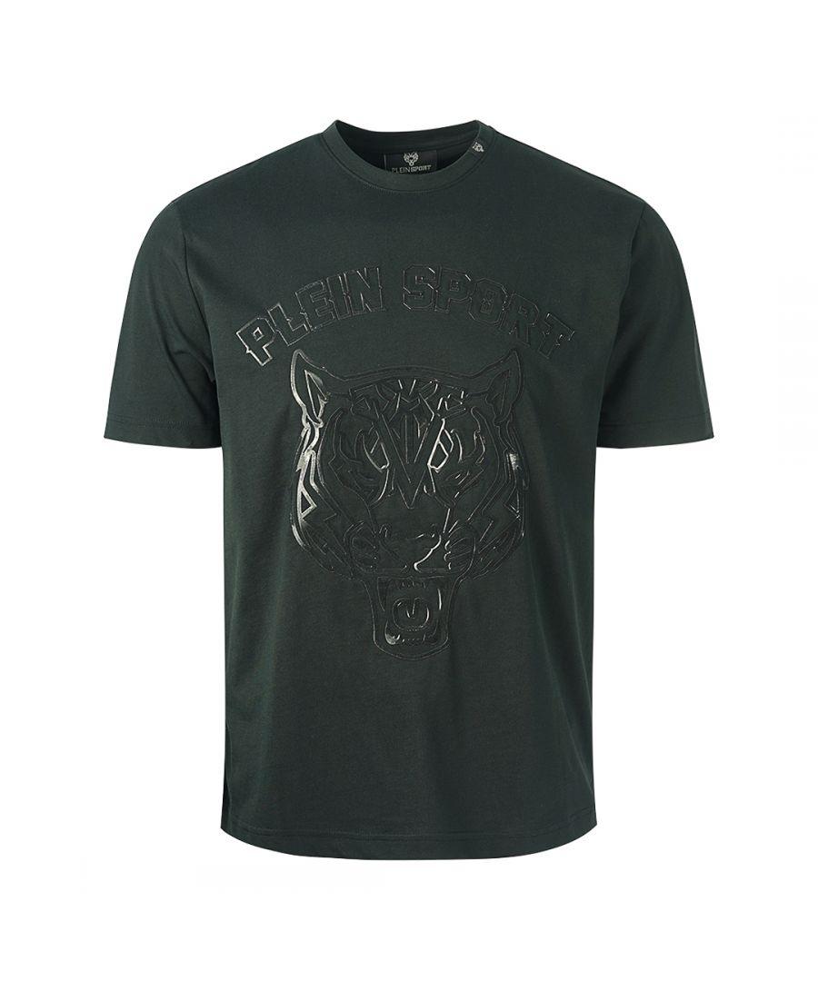 Image for Philipp Plein Sport Tiger Head Logo Black T-Shirt