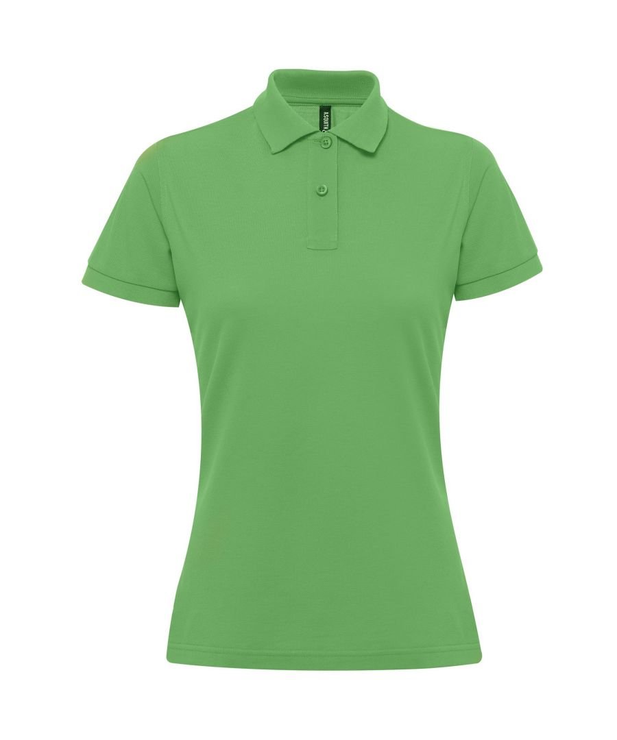 Image for Asquith & Fox Womens/Ladies Short Sleeve Performance Blend Polo Shirt (Kelly)