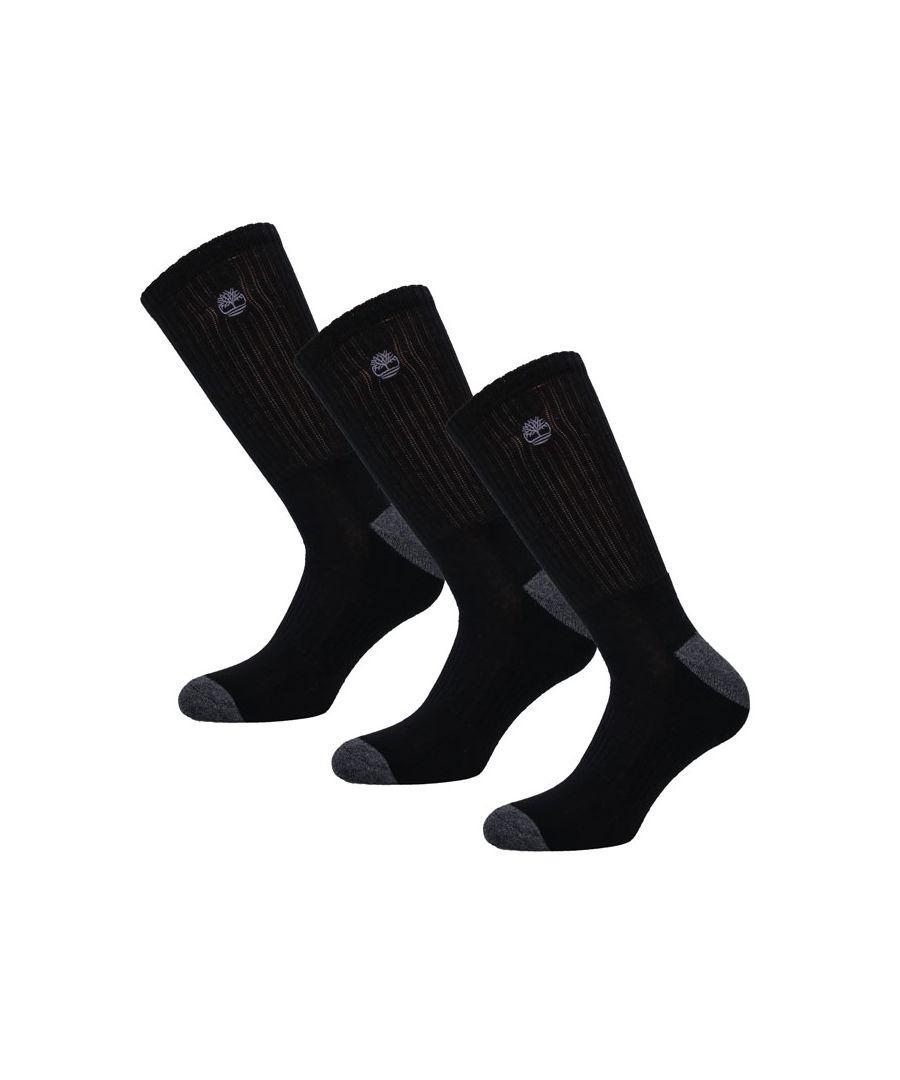 Image for Men's Timberland 3 Pack Core Socks in Black