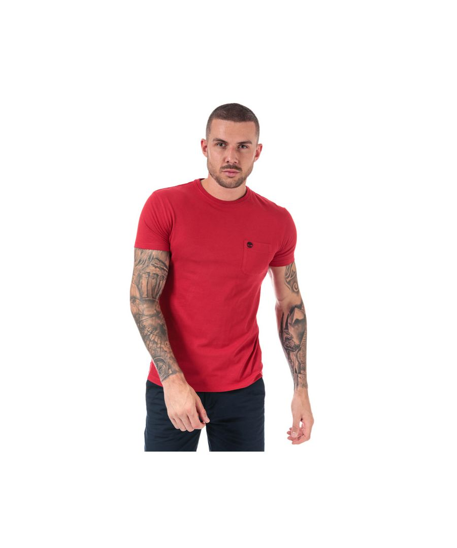 Image for Men's Timberland Dunstan River Pocket T-Shirt in Red