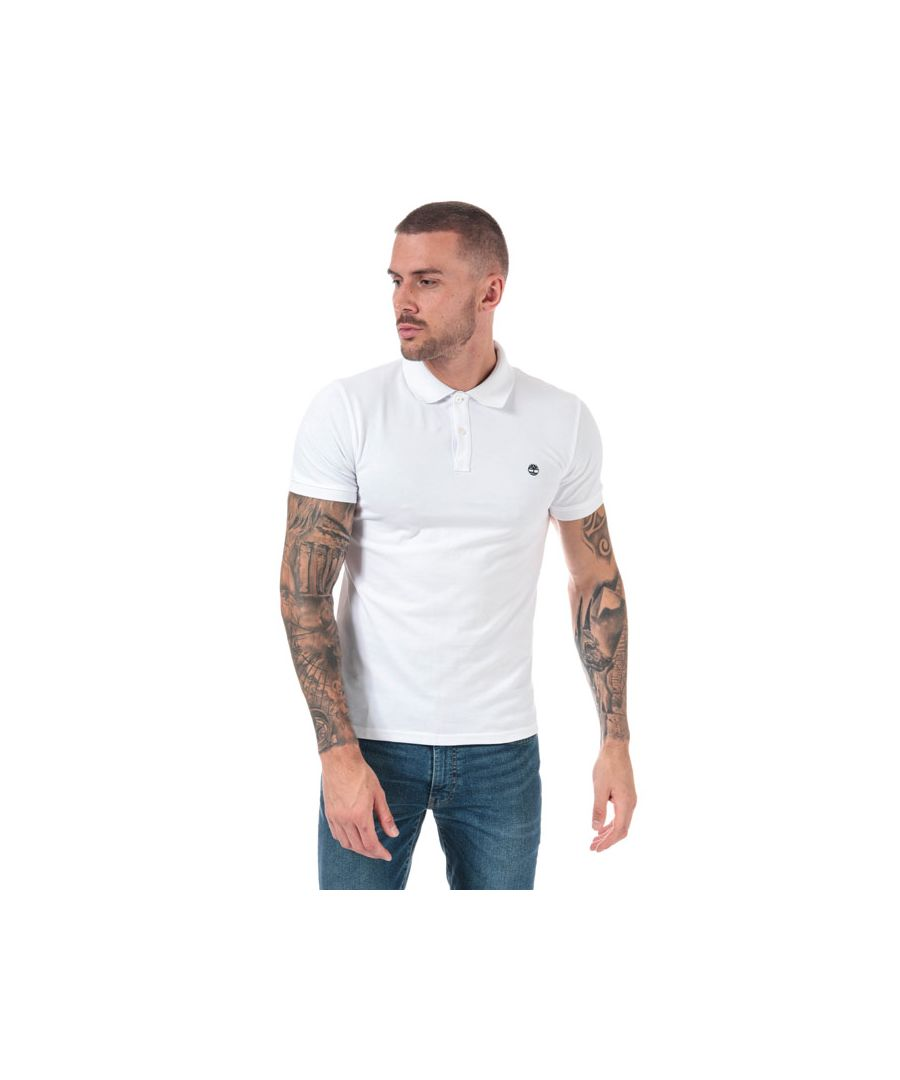 Image for Men's Timberland Millers River Jacquard Polo Shirt in White