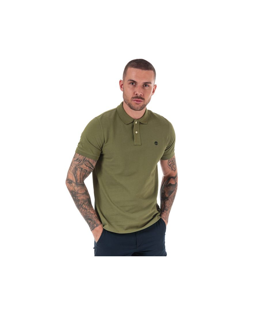 Image for Men's Timberland Millers River Polo Shirt in Khaki