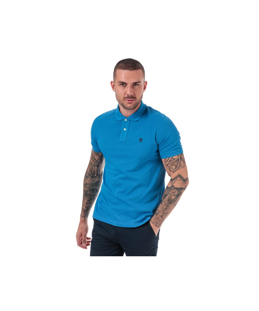 Image for Men's Timberland Millers River Polo Shirt in Blue