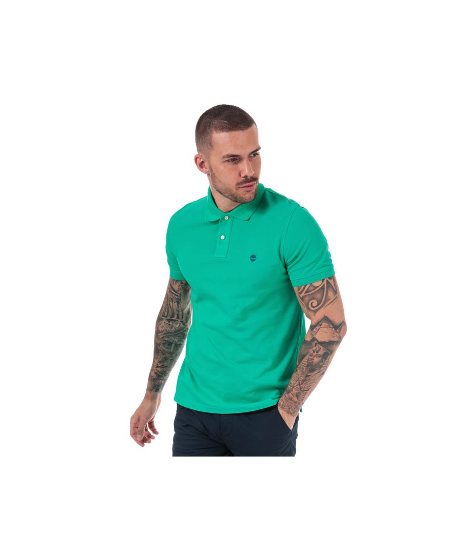 Image for Men's Timberland Millers River Polo Shirt in Green