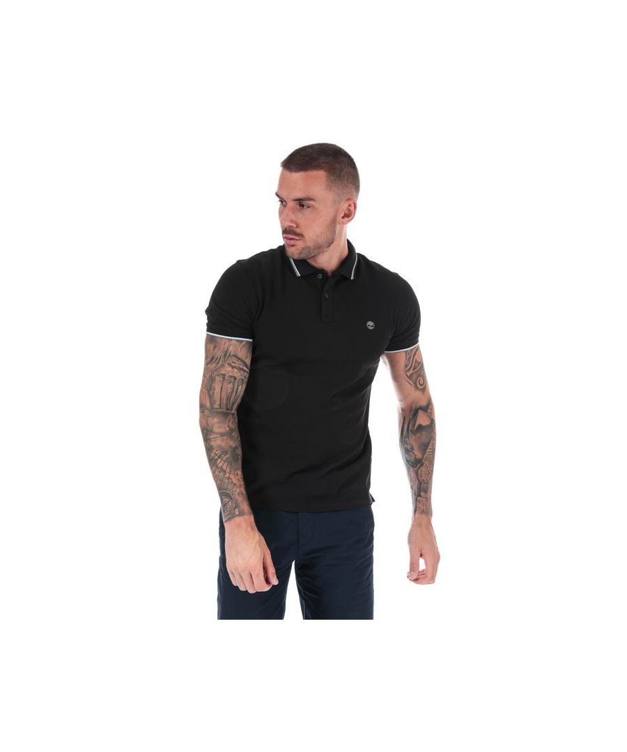 Image for Men's Timberland Millers River Tipped Polo Shirt in Black