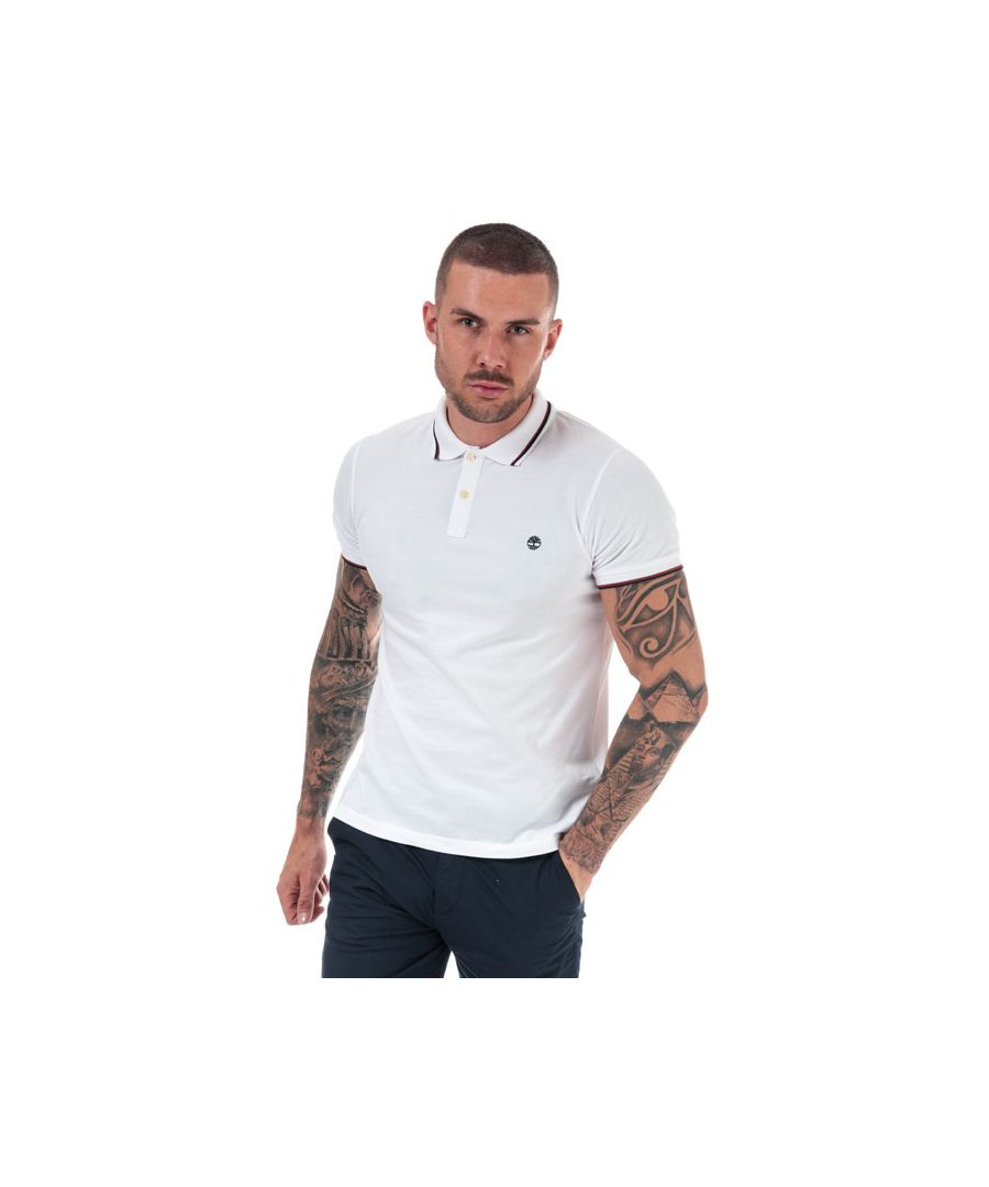 Image for Men's Timberland Millers River Tipped Polo Shirt in White