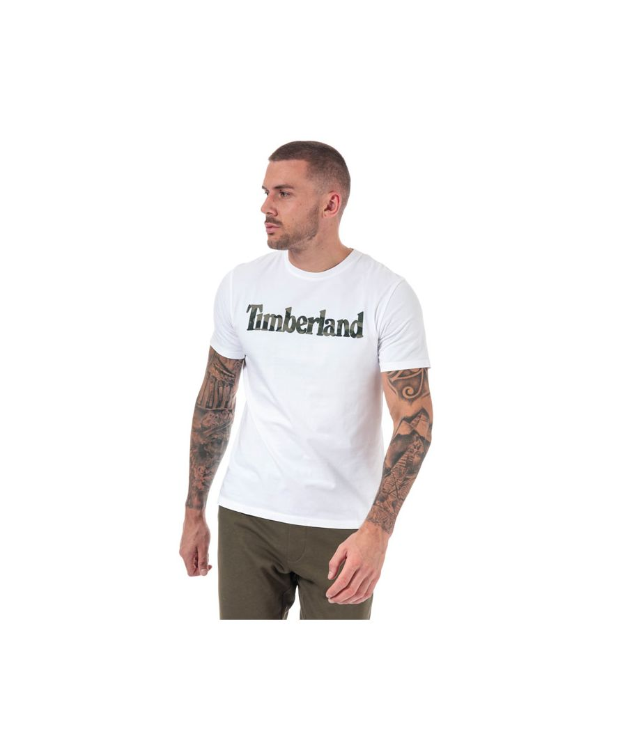 Image for Men's Timberland Kennebec River Camo T-shirt in White