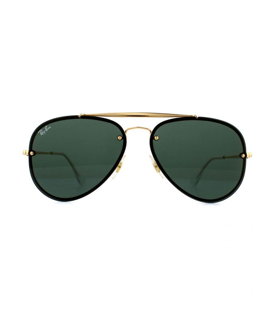Image for Ray-Ban Sunglasses Blaze Aviator 3584N 905071 Gold Dark Green 58mm