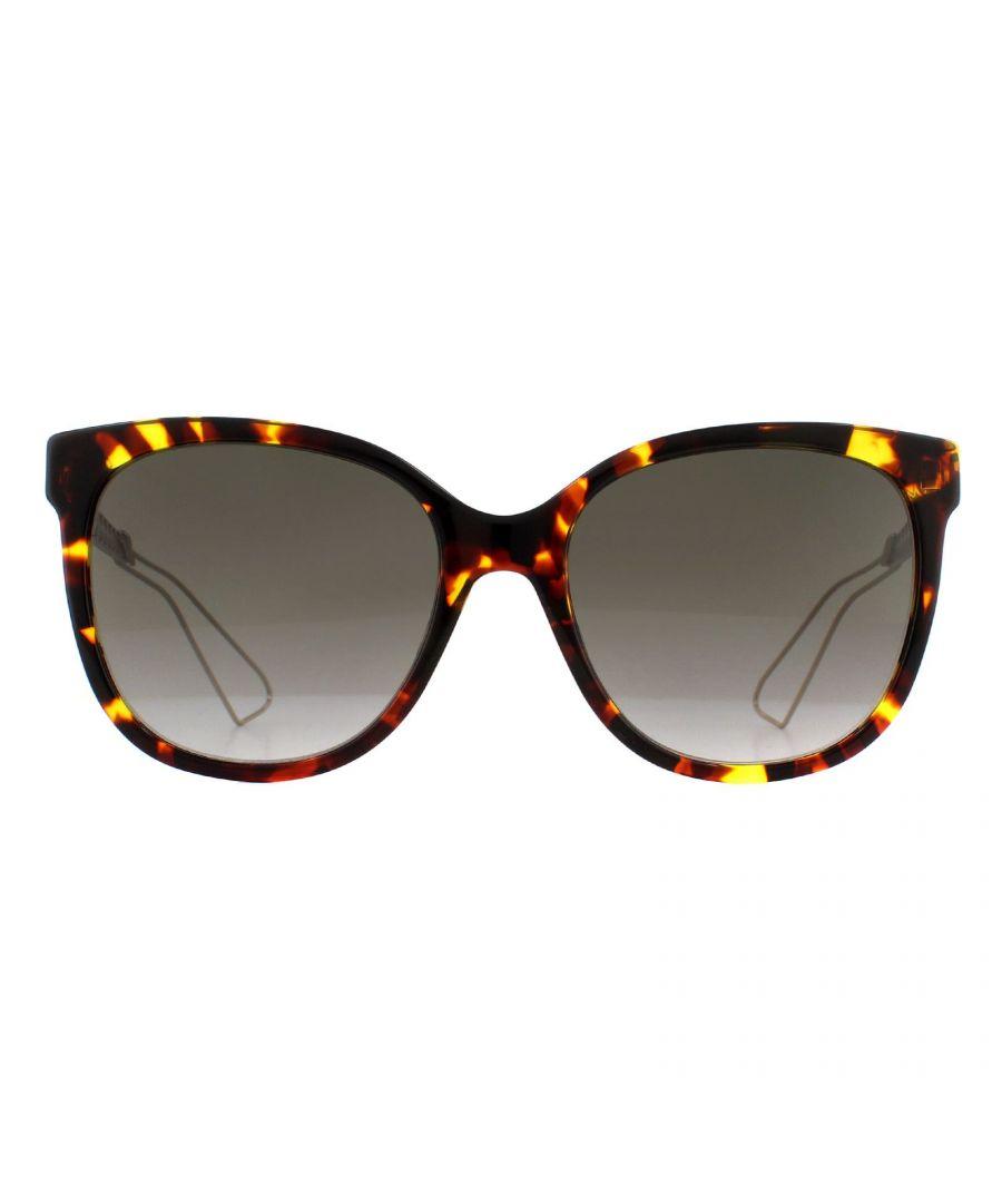 Image for Dior Sunglasses Diorama 3 TGY HA Havana and Light Gold Brown Gradient