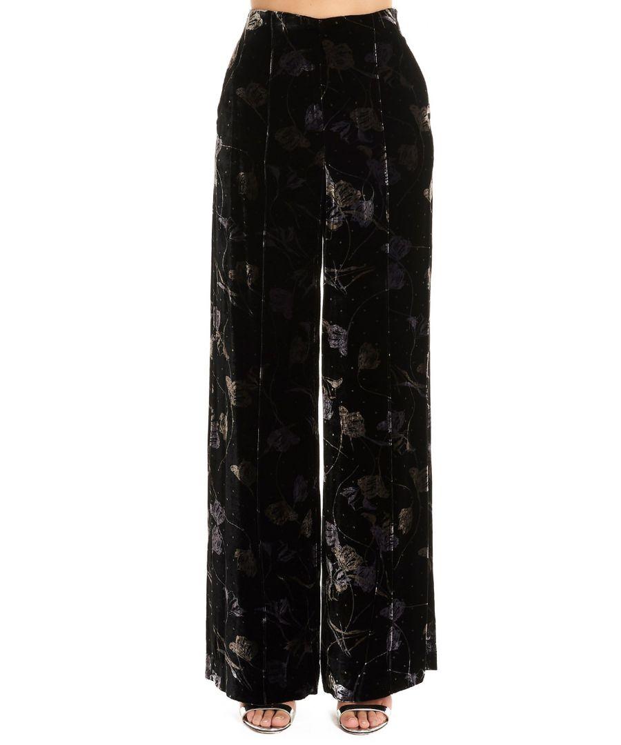 Image for DIANE VON FURSTENBERG WOMEN'S 13505DVFTTBLA BLACK VISCOSE PANTS