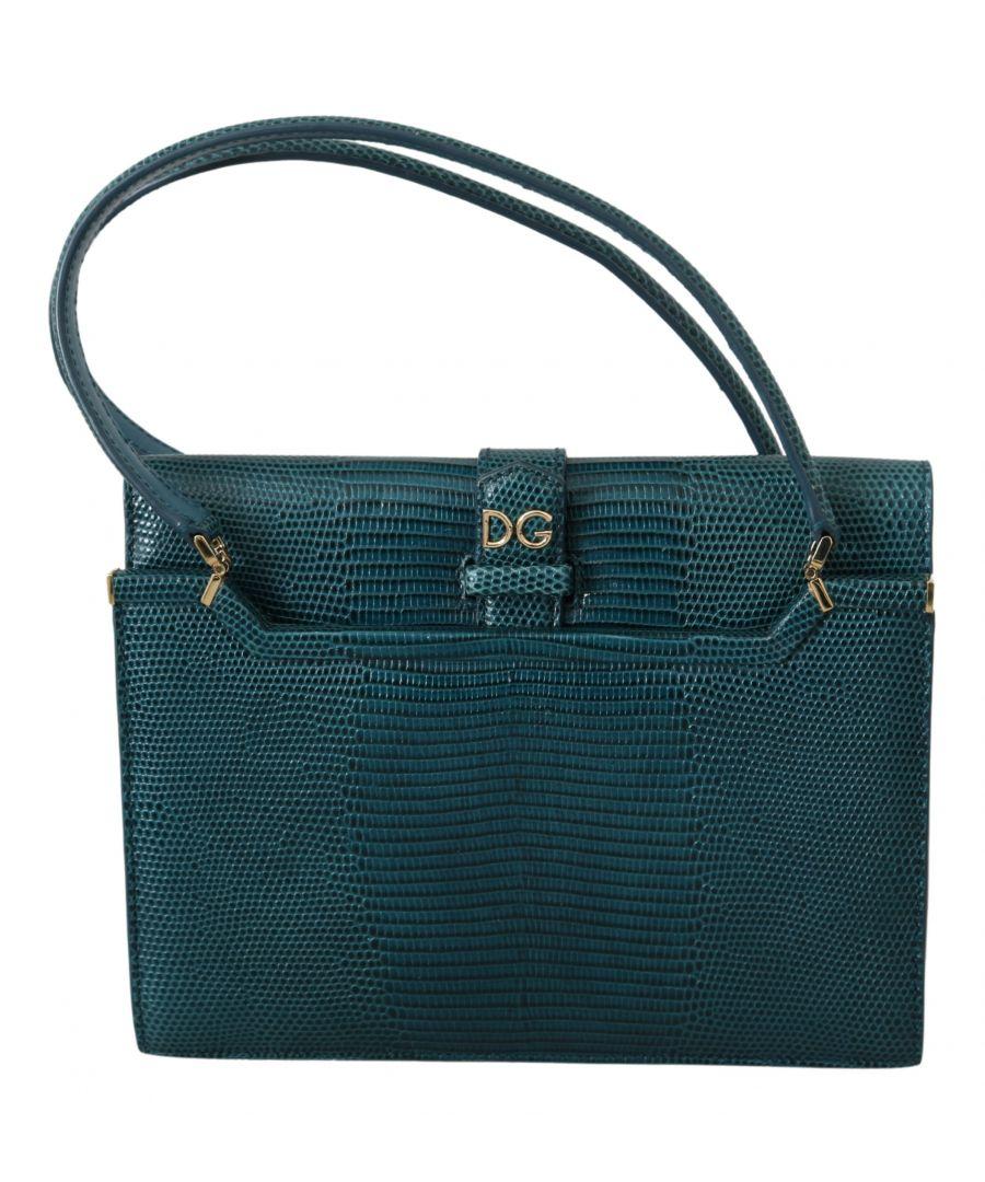 Image for Dolce & Gabbana Iguana Print Calfskin Leather Purse INGRID Bag