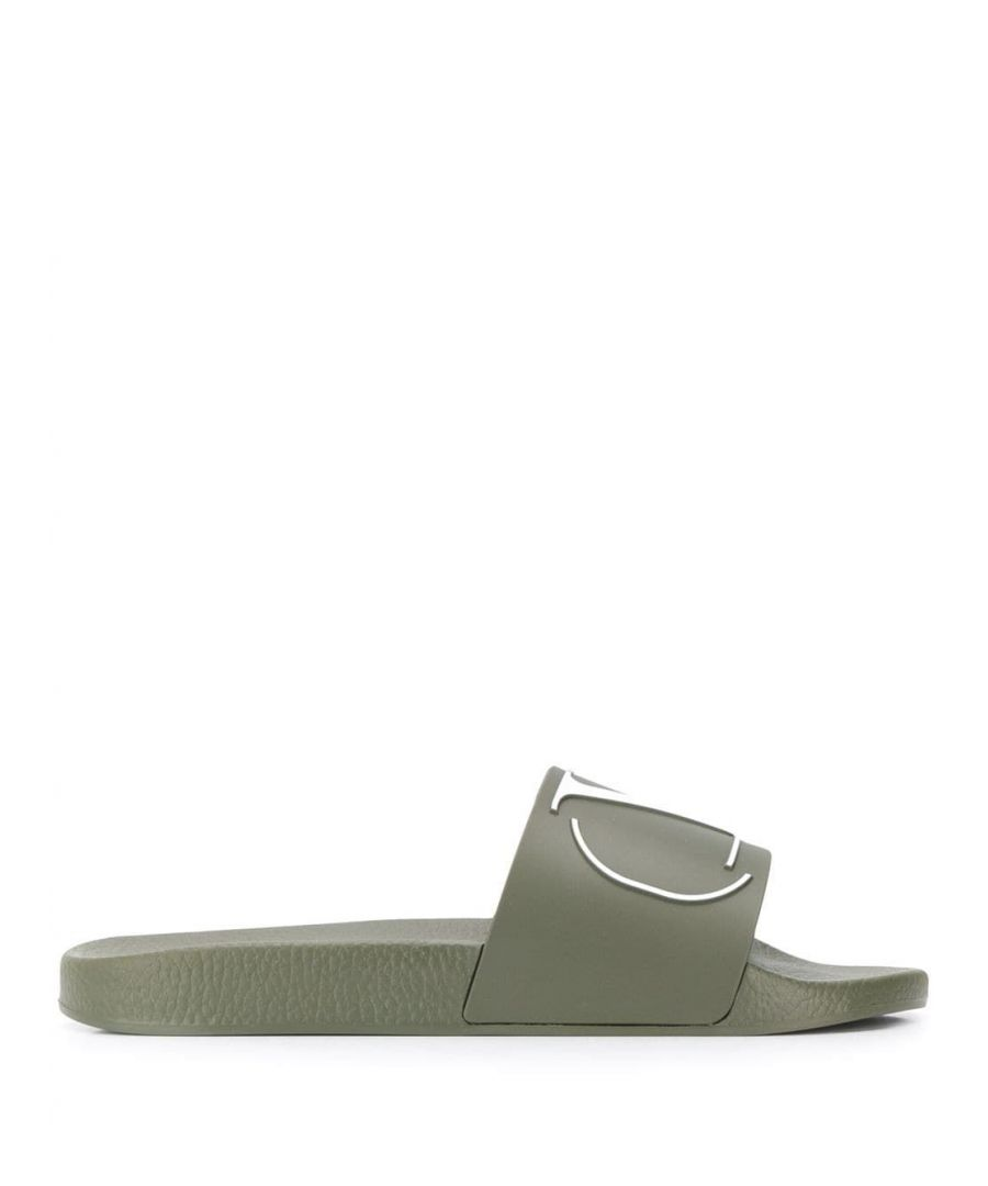 Image for VALENTINO MEN'S TY2S0873DFU17T GREEN RUBBER SANDALS