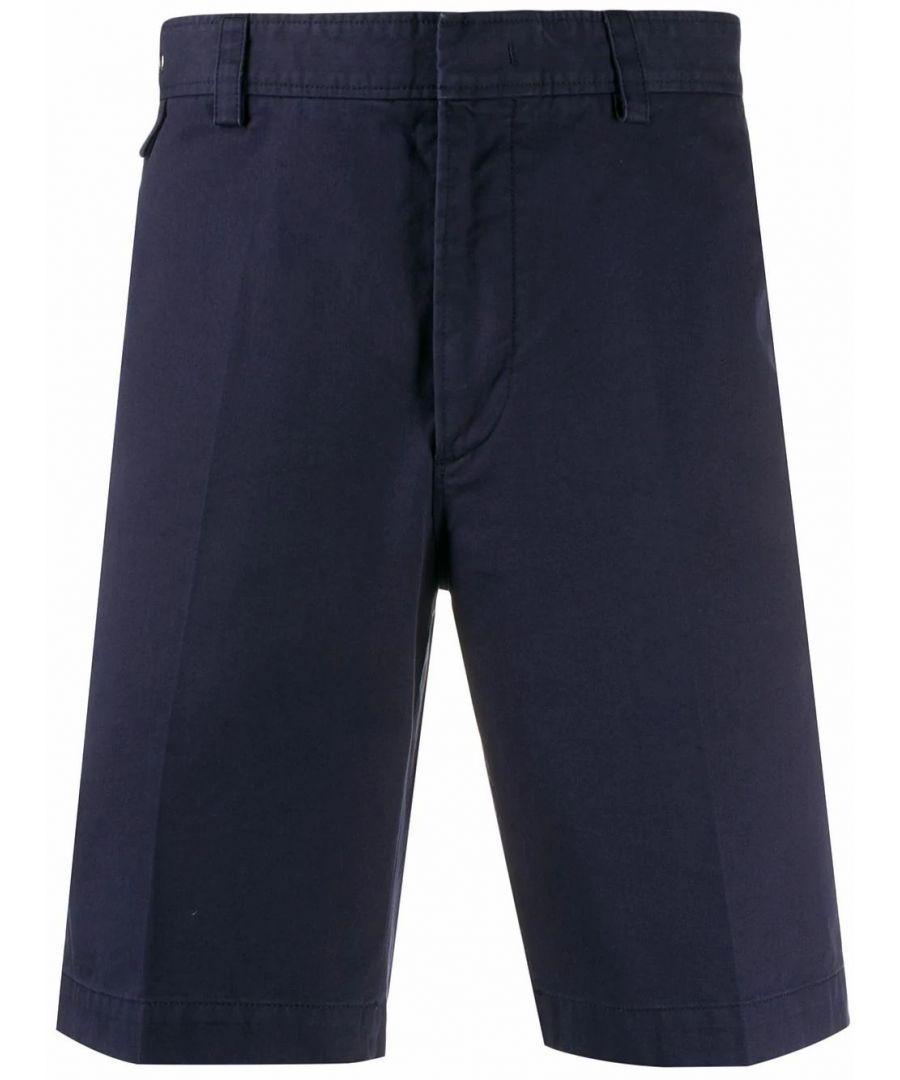 Image for LANVIN MEN'S RMTR00274468P20241 BLUE COTTON SHORTS