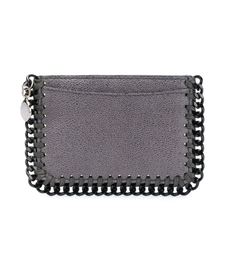 Image for STELLA MCCARTNEY WOMEN'S 371371W81803250 GREY FAUX LEATHER CARD HOLDER