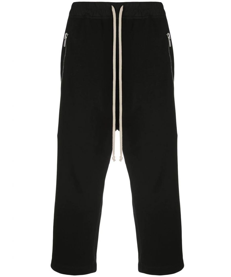 Image for RICK OWENS MEN'S RU20S7376BA09 BLACK COTTON JOGGERS